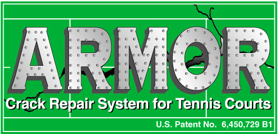 Armor Crack Repair System for Tennis Courts, Evergreen Tennis Courts, Loveland, Colorado